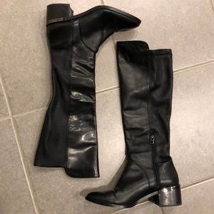 Coach black leather Ryder tall boot 8.5